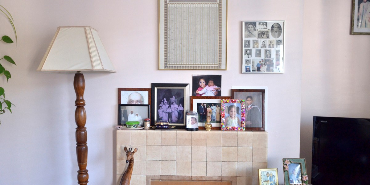 The mantelpiece in Shirin J's living room in Shoreditch © Sophie Verhagen. Object number 494/2011-10