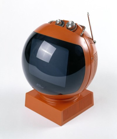 Videosphere television manufactured by JVC in Japan, about 1966