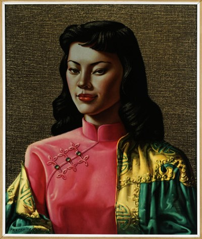 Miss Wong by Trechtchikoff. One of the first mass-produced prints, 1950-70