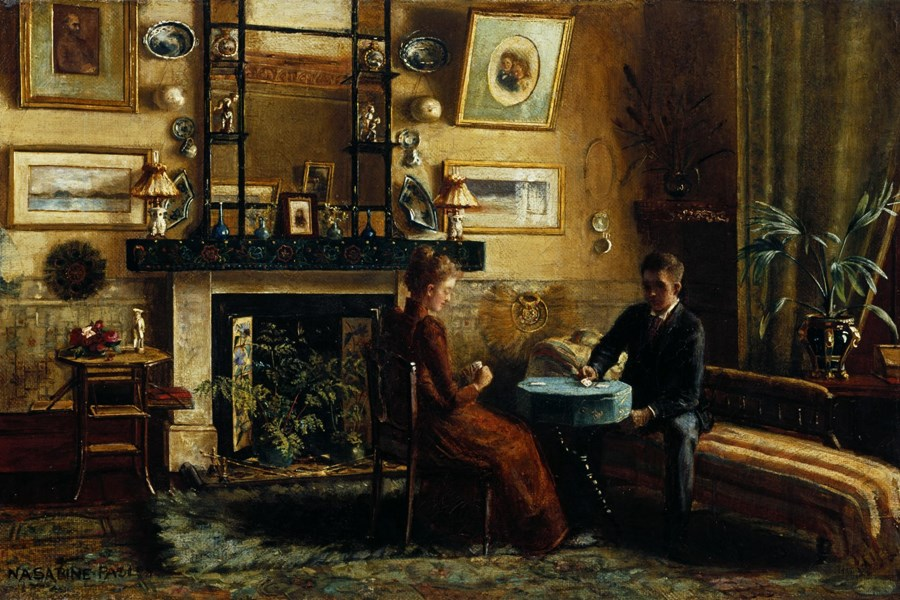 A Game of Cards by Nancy Adair Sabine Pasley (1865–1903). Object number 81/1996