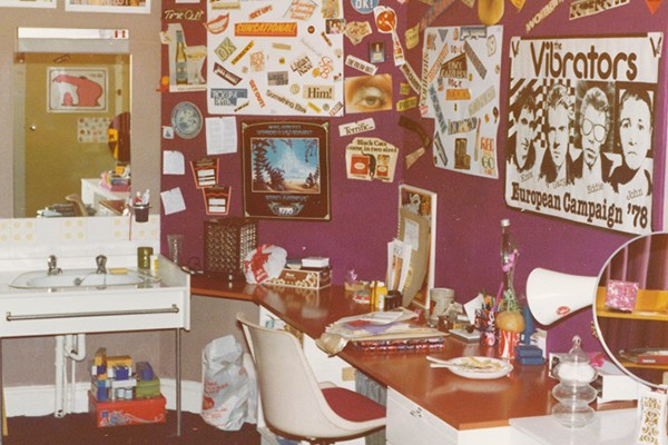 Colour photograph of Anya Liss's bedroom in Castle Hill, Stafford, taken by an unidentified photographer in 1980. Object number 763/2012-60