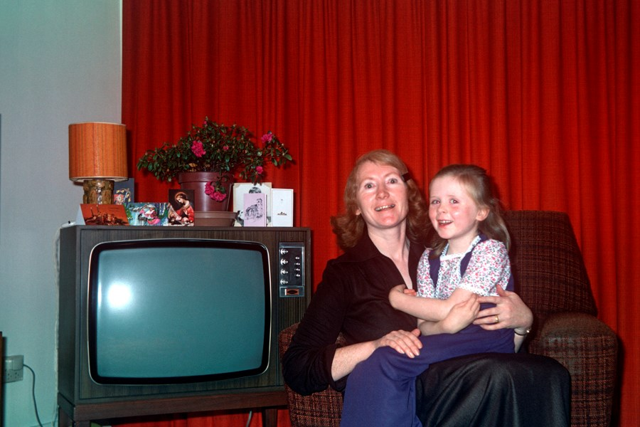 Bridget Breheny with her daughter Catherine in their home in Hatfield, 1976. Object number 1/2018-25