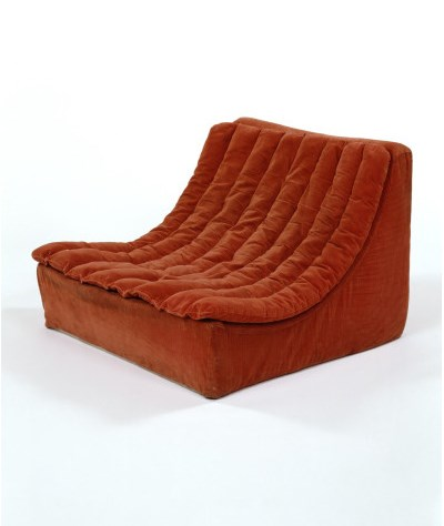 Seating unit in Groovy fabric designed by Terence Conran,  about 1973